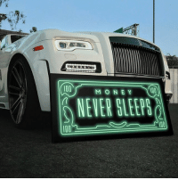 """Anaconda, Hustler, and Memes: 100  100  MONE Y  NEVER SLEEP  100 @ikonick """"Money Never Sleeps"""" Art Canvas 💰🎨 - Tag a hustler that needs this below ! 👇🏽 - Follow @ikonick for more ! 🎨"""