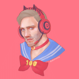 Just sharing my late late fanart for the 100M subs milestone! Our Lord and Savior Sailor Weeb Pewds: 100  AJENMONTZY Just sharing my late late fanart for the 100M subs milestone! Our Lord and Savior Sailor Weeb Pewds