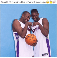 Anaconda, Lit, and Memes: 100  Most LIT cousins the NBA will ever see  ONIATK Vince Carter and TMac only played on the Raptors for 2 seasons... but they were too LIT 🔥🔥