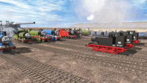 The other engines became fed up with Gordon and Henry's new toy. Later that day, some German engines who looked suspiciously like Thomas came to take back their gun: 1001  OB  O 001  DB  00 001 The other engines became fed up with Gordon and Henry's new toy. Later that day, some German engines who looked suspiciously like Thomas came to take back their gun