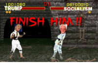 finish him: 1001060  TRUMP  SOCIALESM  FINISH HIM!!