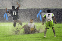 Football in the rain is always fun!: z Football in the rain is always fun!