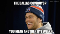 Mean Memes: @NFL MEMES  THE DALLAS COWBOYS?  YOU MEAN ANOTHER BYE WEEKO