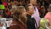 A running theme for Bryan's career...This moment in history when the Daniel Bryan chants drowned out Triple H and forced him to stop talking. -w33bz: TRACT  YES  WLIVE A running theme for Bryan's career...This moment in history when the Daniel Bryan chants drowned out Triple H and forced him to stop talking. -w33bz