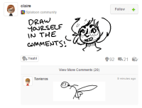 Splatoon : claire  Splatoon community  DRAW  IN THE  COMMENTS  eah  View More Comments (20)  Tavieros.  Follow  992 21  9 minutes ago