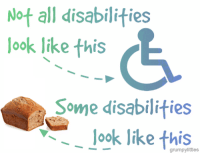 Sometimes it is okay to discriminate.: Not all disabilities  look like this  Some disabilities  look like this Sometimes it is okay to discriminate.