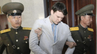 TERRIFYING SENTENCE: An American college student has been sentenced to 15 years of hard labor in a North Korea prison.  21-year-old Otto Warmbier was convicted of attempting to steal a propaganda banner at a hotel he was at while on vacation.  READ MORE: http://abc7.ws/1Ug4fVS: 湖  待 TERRIFYING SENTENCE: An American college student has been sentenced to 15 years of hard labor in a North Korea prison.  21-year-old Otto Warmbier was convicted of attempting to steal a propaganda banner at a hotel he was at while on vacation.  READ MORE: http://abc7.ws/1Ug4fVS