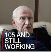 Doctor, Memes, and Exercise: 105 AND  STILL  WORKING 8 MAY: Bill Frankland is 105 years old - and still working as a doctor. How does he do it? Watch more: bbc.in-105 105 doctor health fitness exercise longlife BBCShorts BBCNews @BBCNews