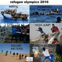 olympic: refugee olympics 2016  sailin  SWIMMING  HIGH JUMP  500.000  ORCH BEARER  METERS