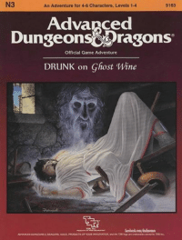 Little late night lovin' from Law. #renamedmodules #beenawhile -Law: 9163  An Adventure for 4-6 Characters, Levels 1-4  Advanced  Dungeons Dragons  Official Game Adventure  DRUNK on Ghost Wine  ADVANCED DONGEONSEDRAGONS, ADED, PRODUCTS OF YouRIMAKINATION. ind ehe TSRlegoare trademarks owned by TSK Inc. Little late night lovin' from Law. #renamedmodules #beenawhile -Law