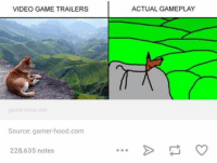 Video Games, Videos, and Game: VIDEO GAME TRAILERS  garner hood com  Source: gamer hood.com  228,635 notes  ACTUAL GAMEPLAY