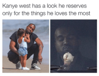 Kanye Meme: Kanye west has a look he reserves  only for the things he loves the most