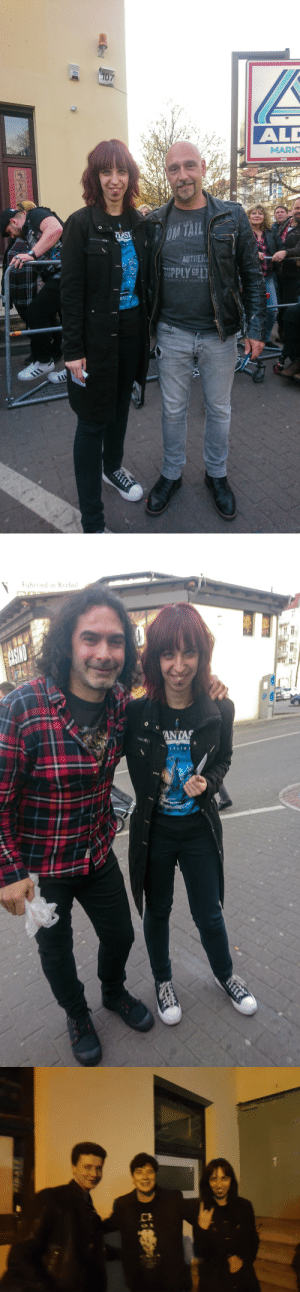 misfit-on-a-journey:  Oh shit folks, I absolutely forgot to post these pictures here and one gif. This is me with the two amazing guitarists of Avantasia - Oliver Hartman and Sascha Paeth. The came before the show to say hello to the fans and omg they were soo nice and friendly    And me and my best friend with Eric Martin after the show. Eric was soo cute and he hug me ♥♥ *fangirls* Also I was tagged by these amazing persons @vila-viridian​, @n-i-g-h-t-c-r-a-w-l-e-r-6-6-6​, @radiant-aether​, @gipsyspirits​, @glimpseofsanity​, @the-nameless-primordial-one​ and @scarsoftheshatteredsky thank youuu!! Tagging: @nighttime-rebel, @bruceedickinson, @wonderinghobbit, @blacknorthenthunder, @lycanthrope-laboratory, @bitch-of-izalith, @bipolarsadomasochisticinsomniac, @hera-salander, @klumpkloss, @jesster-day, @cucumber-castle, @cassiusthecorrupterofsouls, @valkyriestorm, @bridgesinthesky, @drfeelgood-21, @ktuludawn, @ollis-beard, @walk-among-us, @artaeum and @as-cold-as-her-sorrow : 107  ALD  MARKT  ADEMAKK  LASI  AUTHENT  SUPPLY COLT  HANDM  STABLISH aD SINCE 1   Fuhrend in Berhn!  $ASINO  1011  ANTAS misfit-on-a-journey:  Oh shit folks, I absolutely forgot to post these pictures here and one gif. This is me with the two amazing guitarists of Avantasia - Oliver Hartman and Sascha Paeth. The came before the show to say hello to the fans and omg they were soo nice and friendly    And me and my best friend with Eric Martin after the show. Eric was soo cute and he hug me ♥♥ *fangirls* Also I was tagged by these amazing persons @vila-viridian​, @n-i-g-h-t-c-r-a-w-l-e-r-6-6-6​, @radiant-aether​, @gipsyspirits​, @glimpseofsanity​, @the-nameless-primordial-one​ and @scarsoftheshatteredsky thank youuu!! Tagging: @nighttime-rebel, @bruceedickinson, @wonderinghobbit, @blacknorthenthunder, @lycanthrope-laboratory, @bitch-of-izalith, @bipolarsadomasochisticinsomniac, @hera-salander, @klumpkloss, @jesster-day, @cucumber-castle, @cassiusthecorrupterofsouls, @valkyriestorm, @bridgesinthesky, @drfeelgood-21, @ktuludawn, @ollis-beard, @walk-among-us, @artaeum and @as-cold-as-her-sorrow