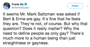 107bees: randomslasher:  zoblogs:  daphnetrodon:  daphnetrodon:   didyouknowmagic:  froglezbian:  straight people shut up challenge  Frank stop. Go read a book or yell at a cloud it would be just as useful as this statement you left on Twitter.   He did add this later, which is… something?   [x] good ending   This is what people mean when they say that privilege is invisible to the people who have it. It never occurred to him that knowing someone's orientation would be important to anyone, because to him, a straight man, representation is everywhere. It's overabundant. It's so common as to be taken for granted. To him, representation of his sexuality isn't important because it's there.  I love that he learned. I love watching people understand their own blind spots when it comes to privilege.   Can also be filed under: why cancel culture is dumb, people need to make mistakes to grow  : 107bees: randomslasher:  zoblogs:  daphnetrodon:  daphnetrodon:   didyouknowmagic:  froglezbian:  straight people shut up challenge  Frank stop. Go read a book or yell at a cloud it would be just as useful as this statement you left on Twitter.   He did add this later, which is… something?   [x] good ending   This is what people mean when they say that privilege is invisible to the people who have it. It never occurred to him that knowing someone's orientation would be important to anyone, because to him, a straight man, representation is everywhere. It's overabundant. It's so common as to be taken for granted. To him, representation of his sexuality isn't important because it's there.  I love that he learned. I love watching people understand their own blind spots when it comes to privilege.   Can also be filed under: why cancel culture is dumb, people need to make mistakes to grow
