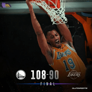 Los Angeles Lakers, Rajon Rondo, and Warriors: 108-90 A  LOSHNGELES  ERS  FINAL The Lakers are unable to overcome a slow start falling in a blowout loss to the Warriors  Jonathan Williams: 17 pts & 13 rebs Rajon Rondo: 12 pts, 4 rebs, 2 asts, 2 stls  HIGHLIGHTS: bit.ly/ClutchPoints