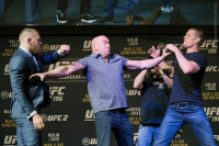 Daaammnnn. Seems like conor got worked up.Conor McGregor and Nate Diaz almost break out into a scuffle after UFC 196 press conference. Watch wild scene below.: TAT  MAR  McF  FC  196  UFC 2  HOLM  TATE  MAR 5 SAT  MPA  HOLM  TATE  MAR 5 SAT  PAY-PER-VIEW  ATE  U L  dcGREG  DIAZ  AR 5 S  V-PER  GR  R 5 SAT  AFE  196  UFC  TATE  MAR 5 SAT  PAY-PER-VII  FL Daaammnnn. Seems like conor got worked up.Conor McGregor and Nate Diaz almost break out into a scuffle after UFC 196 press conference. Watch wild scene below.