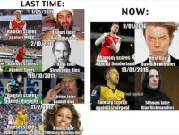 Is the Aaron Ramsey curse back?: LAST TIME  LAST 1/05/2011  Ramsey Scores  4 hours later:  Bin Laden dies  against MUFC  2/10/2011  3 days later  against Spurs  Steve Jobs dies  19/10/2011  Ramsey scores  12 hours later:  against Marseille  Gaddafi dies  11/2/2012  Ramsey scores  hours later  ..against Sunderland AWhitney Houston dies  NOW  9/01/2016  Ramsey scores  Next Day:  against Sunderland David Bowie dies  13/01/2016  Troll Football  Ramsey scores  14 hours later:  against Liverpool  Alan Rickman dies Is the Aaron Ramsey curse back?