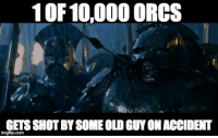 And starts the war!! ~Feredir: 10F 10,000 ORCS  GETS SHOT SOMEOLOGUYONACCIDENT  imgflip.com And starts the war!! ~Feredir