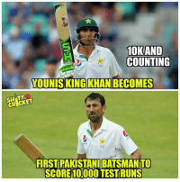 Congratulation Younis Khan 👍🏻 By: SC: 10KAND  COUNTING  YOUNIS KING KHAN BECOMES  FIRST PAKISTANI BATSMANTO  SCORE 1OOOOTESTRUNS Congratulation Younis Khan 👍🏻 By: SC
