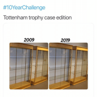 Consistency is key:  #10YearChallenge  Tottenham trophy case edition  2009  2019 Consistency is key