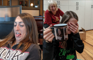 My sister learned a valuable lesson this Christmas: If you let your older brother take an ugly picture of you, you will get it on a custom color-changing mug as a gag gift. Merry Christmas everyone!: 11  11 My sister learned a valuable lesson this Christmas: If you let your older brother take an ugly picture of you, you will get it on a custom color-changing mug as a gag gift. Merry Christmas everyone!
