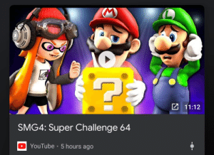 Mario are you okay?: 11:12  SMG4: Super Challenge 64  DYouTube 5 hours ago Mario are you okay?