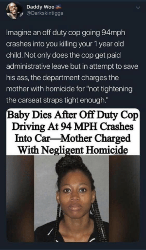 11/15/2019 A baby died after an officer crashed his Corvette at 94 mph, investigators say. He won't face charges. (Source in comments): 11/15/2019 A baby died after an officer crashed his Corvette at 94 mph, investigators say. He won't face charges. (Source in comments)
