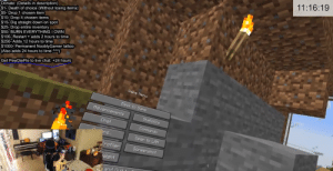 this madlad is doing minecraft for 24 hours, let's make him suffer some more: 11:16:19  Donate: (Details in description)  $1- Death of choice (Without losing items)  $5- Drop 1 chosen item  $10- Drop 4 chosen items  $15- Dig straight down on spot  ($25- Drop entire inventory  $50- BURN EVERYTHING I OWN  |$100- Restart + adds 2 hours to time  $250- Adds 12 hours to time  $1000- Permanent NooblyGamer tattoo  (Also adds 24 hours to time )  Get PewDiePie to live chat: +24 hours  Gane Menu  Back to Garme  fidvancenents  Statistics  Chat  Commands  ns...  Open to LfiN  Frofiler  Soreenshot  eight  and Ouit this madlad is doing minecraft for 24 hours, let's make him suffer some more