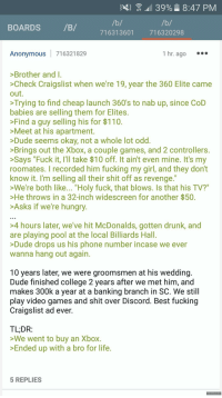 "<p>Anon buys an Xbox. (xpost with r/greentext) via /r/wholesomememes <a href=""http://ift.tt/2xxXomj"">http://ift.tt/2xxXomj</a></p>: 11 39%