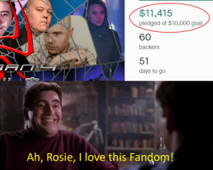 "Love, Nobel Prize, and Rosie: $11,415  pledged of $10,000 goal  60  backers  51  days to go  Ah, Rosie, I love this Fandom! ""Nobel Prize, Otto, Nobel Prize!!"""