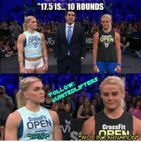 "Exactly how I felt 😭😭 40 minutes timecap aka he wants us to die finishing 😭 @katrintanja & @sarasigmunds of course finished the whole workout before I could finish the first set of double unders. UNITEDLIFTERS 17point5: ""11.5 IS 10 ROUNDS  CrossFit  OPEN  OPEN  ISS  Via  17  OPEN  CrossFit  ERBRUH  KWOT IN TARNATIONAR Exactly how I felt 😭😭 40 minutes timecap aka he wants us to die finishing 😭 @katrintanja & @sarasigmunds of course finished the whole workout before I could finish the first set of double unders. UNITEDLIFTERS 17point5"