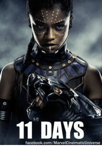 Facebook, Love, and Memes: 11 DAYS  facebook.com/MarvelCinematicUniverse Eleven days remain until BLACK PANTHER is released in U.S. theaters.  (Nerds Love Art)