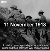 Anaconda, Memes, and Queen: 11 November 1918  A hundred years ago today an armistice was  signed and the First World War officially ended Today marks 100 years since Armistice Day, that's when World War One officially ended on the 11th hour of the 11th day of the 11th month. Tap the link in our bio to find out more about special events that are taking place around the world honour those who died. The Queen and senior royals will attend London's Cenotaph for the national remembrance service. In France, where many of the battles of the Western Front were fought, around 70 world leaders are gathering. French President Emmanuel Macron will meet them for a ceremony at the Arc de Triomphe in Paris. armistice100 worldwarone firstworldwar lestweforget remembranceday bbcnews