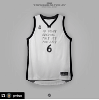 """Basketball, Drake, and Nba: 11  pvtsO  DRAKE  """"IF YOU'RE READING THIS IT'S TOO LATE""""  BASKETBALL JERSEY  IF YOUR  RAADING  THIS ITS  00 LAT If You're Reading This It's Too Late x NBA jersey mashup. 🔥🔥🔥 (via @pvtso)"""