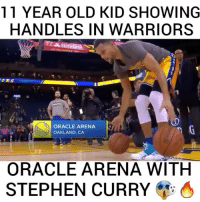 oakland ca: 11 YEAR OLD KID SHOWING  HANDLES IN WARRIORS  OR  ORACLE ARENA  OAKLAND, CA  ORACLE ARENA WITH  STEPHEN CURRY