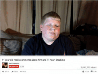Common Memes: 11 year old reads comments about him and it's heart breaking  Josh Fairbanks  Subscribe 23756  Add to Share More  2,092,735 views  2,142  44,535 Common Memes