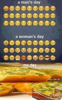 Facebook, Garlic Bread, and Woman's Day: a man's day  a woman's day  my day  Facebook comiGarliebreadmSRTI  OGBMEMES