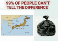 Low quality memes: 99% OF PEOPLE CANT  TELL THE DIFFERENCE  CHINA  okyo  J A P A N Low quality memes