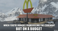 Halo, Hungry, and Budget: WHEN YOU'RE HUNGRY FROM KILLING THE COVENANT  BUT ON A BUDGET  HALO Nemes McHalo's -Chris