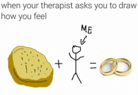Meme Drawings: when your therapist asks you to draw  how you feel  ME  MEMES  I  garlicbreadmetme6