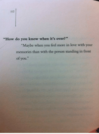 how do you know when its over