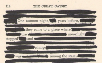 The Great Gatsby, Stars, and Change: 112  THE GREAT GATSBY  One autumn night,years  before,  they came to a place where  the  moonlight  stopped  and  change  wasamong the stars
