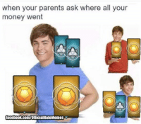 Facebook, Halo, and Money: when your parents ask where all your  money went  facebook.com/OfficialHaloMemes Gotta get that Halo 2 Br and dmr though ~Ichor
