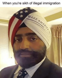 Illegal Memes: When you're sikh of illegal immigration  MAKE