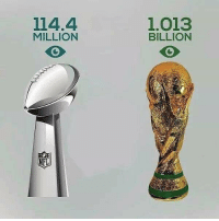 A reminder to all the football fans 🏈😂⚽️ viewers eyes superbowl worldcup football futbol fussball futebol: 114.4  MILLION  1.013  BILLION A reminder to all the football fans 🏈😂⚽️ viewers eyes superbowl worldcup football futbol fussball futebol