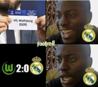 Real Madrid fans before and after:: VfL Wolfsburg  (GER)  footrell Real Madrid fans before and after: