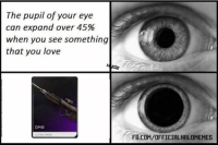 Baby, It's Cold Outside, Halo, and Love: The pupil of your eye  can expand over 45%  when you see something  that you love  DMR  ULTRA RARE  FB.COM/OFFICIALHALOMEMES OH BABY A DMR. ~XyDz