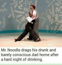 119  Mr. Noodle drags his drunk and  barely conscious dad home after  a hard night of drinking.
