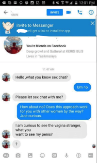 Facebook of sex chat area