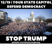 Memes, Spring, and Democracy: 12/19 I YOUR STATE CAPITOL  DEFEND DEMOCRACY  STOP TRUMP  gofundme.com/lastchancestoptrump It's a date! December 19th at your state capitol. Let's do this.   Democracy Spring needs our support: gofundme.com/lastchancestoptrump